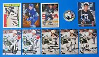 LOT OF 10 GEOFF SANDERSON SIGNED HOCKEY CARDS ~ 100% GUARANTEE