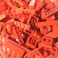 Lego Parts - 1kg Red Mixed Bricks & Pieces - Bulk Joblot - Starter Set Bundle