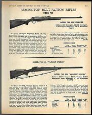 1968 REMINGTON Model 788 Clip Repeater, 700 BDL Varmint Bolt-Action Rifle AD