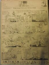 Tom Sawyer and Huck Finn Sunday by Clare Dwigs from 3/20/1921 FullPage Size B&W