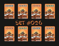 Mah Jongg Jong Mahjong Joker Stickers - Set #026  ** Free Shipping **