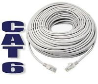 10m CAT6 RJ45 Ethernet Network Internet LAN Router Cable Laptop Round Grey Lead