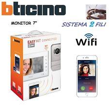 VIDEOCITOFONO EASY KIT BTICINO WiFi MONOFAMILIARE BIFAMILIARE VIDEO COLORI 7 LED