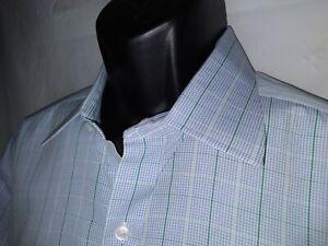 TURNBULL & ASSER 17.5 44cm long sleeve plaid shirt