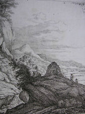 FRANZ RECHBERGER ´FELSIGE GEGEND VON DER HÖHE; MOUNTAINOUS LANDSCAPE´ N.5, 1795