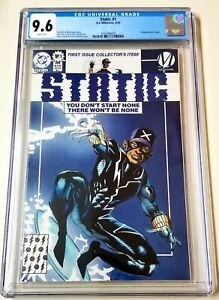 Static #1 CGC 9.6 White Pages 1st Appearance of Static D.C. Milestone 1993 🔥🔥