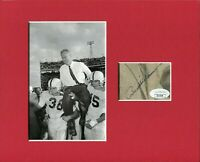 Bud Wilkinson Oklahoma Sooners OU HOF Rare Signed Autograph Photo Display JSA