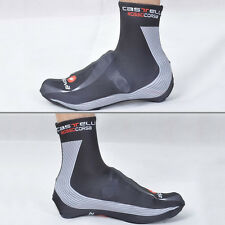 Bicycle Breathable Lycra Shoe Covers Bike Cycling Zippered Overshoes Windproof