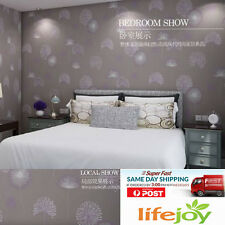 10M 3D Thick Texture Non Woven Fabric Dandelion Feature Bedroom Wallpaper Roll