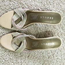 Seduce All Leather Upper And Lining Sandals Size 39