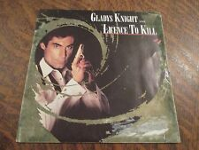 "45 tours GLADYS KNIGHT licence to kill (from ""licence to kill"")"