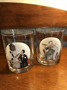 Norman Rockwell The Saturday Evening Post Glassware (2)  Drinking Glasses