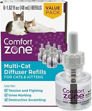 Comfort Zone Cat Calming Diffuser Refill for Multi-Cat Homes to Stop Cat Fightin