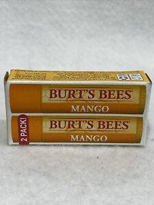 BURT'S BEES - Nourishing Mango Butter Lip Balm (Pack of 2) Fast Free Shipping