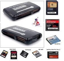 SMART MEDIA MEMORY CARD READER USB  ADAPTER SM SD CF TF XD Windows Mac Linux