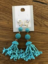 TURQUOISE BEAD EARRINGS - New With Tags!