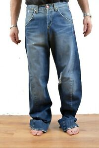 LEVIS VINTAGE 002 Engineered JEANS Denim BLUE Twisted Leg W28 L34 Distressed FAB