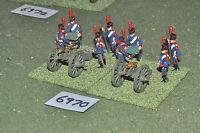 25mm napoleonic / french - artillery 2 guns crew metal painted - art (6970)