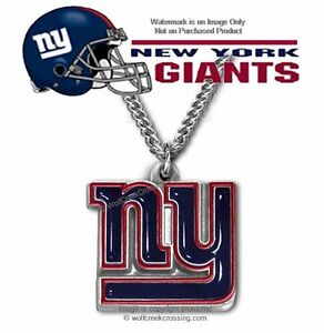 FREE SHIP - NEW YORK GIANTS NECKLACE STAINLESS STEEL CHAIN  NFL FOOTBALL SPORTS'