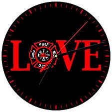 """8"""" WALL CLOCK - FIREFIGHTER 8 Fireman Fire Dept Man Hero Responder Emergency"""