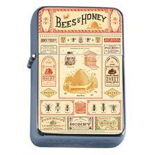 Silver Flip Top Oil Lighter Vintage Poster D 26 Bees & Honey