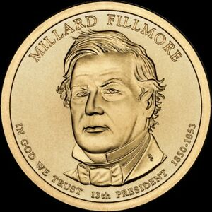 "2010 D Millard Fillmore Presidential Dollar ""Brilliant Uncirculated"" US Coin"