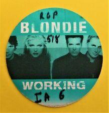Blondie Vintage Backstage Pass