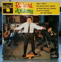 """EP Richard Anthony  """" Roly Poly """" or.fr 1960 (TBE)"""