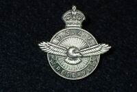 WW2 RCAF Royal Canadian Air Force Lapel Pin Screw Back 'BIRKS' Good Condition
