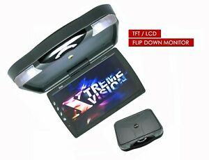 "XtremeVsion 15.1"" TFT LCD Car Roof Mount Flip Down DVD Monitor TV IR -Gray"