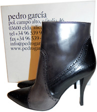 $650 Pedro Garcia Ankle Boot Harriet' Brogue Pointy Toe Booties 8.5 -39