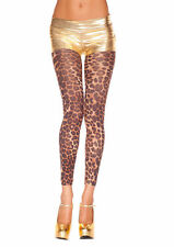 Leopard Animal Print Opaque Footless Tights Sexy Designer Lingerie P35804