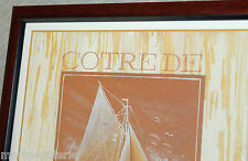 tableau repro peinture voiliers fabr. Bretagne déco mer maritime quadriptique