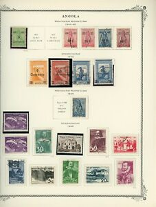 PORTUGUESE COLONIES - ANGOLA Scott Specialty Album Page Lot #11 - SEE SCAN - $$$