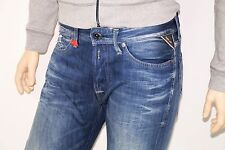 NEUF-replay waitom-w34 l34-bleu washed DENIM-Jeans m93 - 34/34 21c
