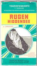 Touristenkarte, Insel Rügen mit Hiddensee, 1977