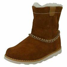 Girls Clarks Warm Lined Boots - Crown Piper