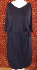 COLDWATER CREEK black stretch rayon sheeth tunic dress L 14 (T15-01D8G)