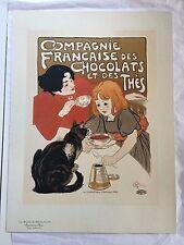 Steinlen Maitre del'affiche: Chocolate de la Compagnie Francaise