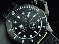 Invicta Men 48mm BLACK Combat NWO CCCP Sea Anchor Russian Grand Diver Strp Watch