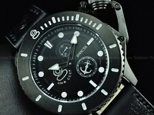 Invicta Men 48mm BLACK Combat NWO CCCP Sea Anchor Russian Grand Diver Strp Watch