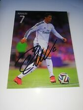 Cristiano Ronaldo hand Signed Real Madrid autograph card very rare
