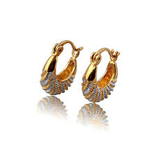 Elegant & Stylish 18k Gold Plated & Platinum Plated Small Hoops Earrings E380