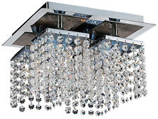 TP24 6554 Metro Leyton 4 x 3W G40 LED plate crystal ceiling light chrome