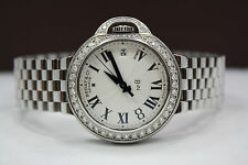 NEW BEDAT & CO No 8 STAINLESS STEEL 36MM DIAMOND ENCRUSTED WATCH REF:828.021.600