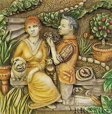 New Loves Labours Harmony Kingdom Byrons Secret Garden Picturesque Tile PXGD3 BX