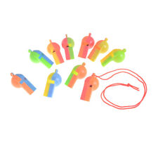 10PCS Plastic Whistle Wanyard Children Kids Party Bag Filler Toys new.