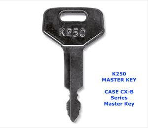 CASE CX-B SERIES MINI DIGGER Master Plant Excavator Key +  FAST FREE POST !