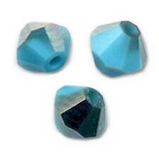 20 Perles Toupies 4mm Cristal Swarovski - TURQUOISE SATIN
