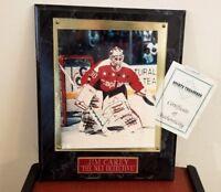 Jim Carey Autographed Signed Framed Plaque 8x10 Washington Capitals Hockey COA